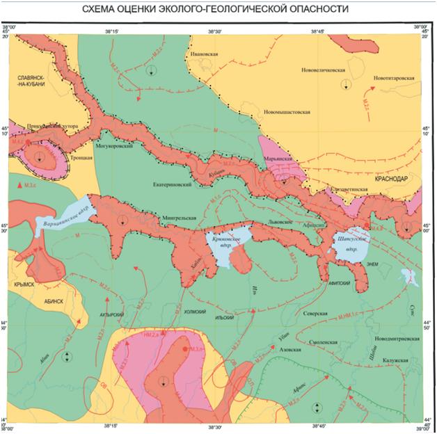 Схема геолого-экономического риска