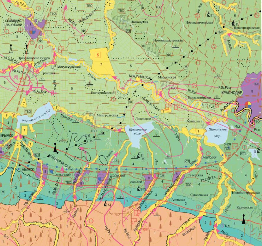 Геолого-экологическая схема
